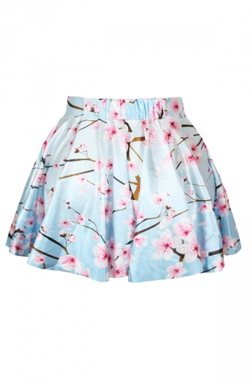 Pink Plum Blossom Printed Skirt Suit