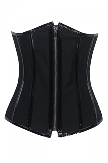 Black Zipper Fashion Ladies Waist Training Corset