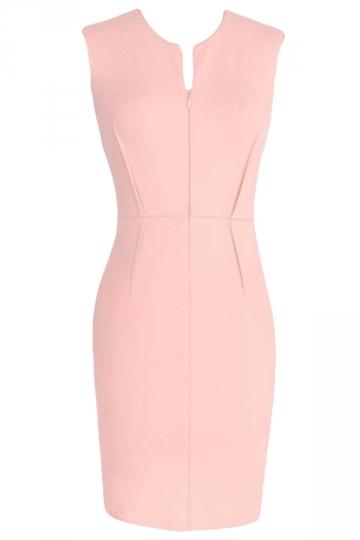 Womens Sexy Charming Sleeveless Tunic Bodycon Dress Pink