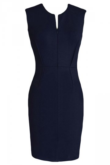 Womens Sexy Charming Sleeveless Tunic Bodycon Dress Navy Blue