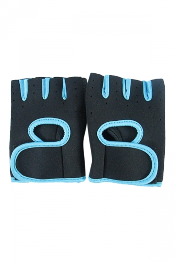 Blue Color Blocking Punching Chic Womens Sports Gloves