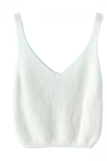 White Sexy Charming Womens Crochet Crop Top