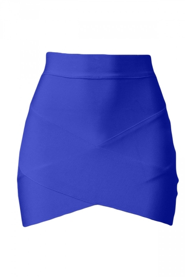 Blue Cross Bandage Sexy Chic Ladies Mini Skirt