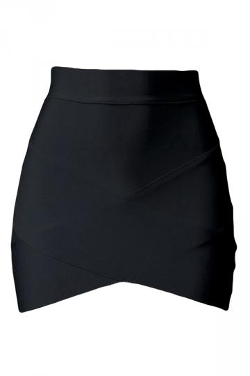 Black Cross Bandage Sexy Chic Ladies Mini Skirt