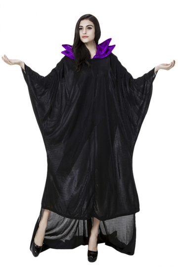 Womens High Low Adult Halloween Maleficent Costume Black