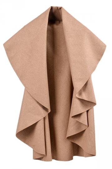 Khaki Irregularly Pretty Fashion Womens Vest