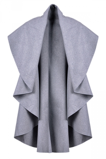 Light Gray Irregularly Pretty Fashion Womens Vest