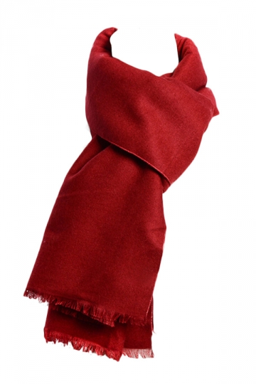 Womens Pretty Plain Wool Shawl Scarf Ruby