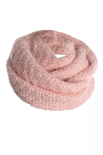 Womens Pretty Mohair Warm Wrap Collar Scarf Pink