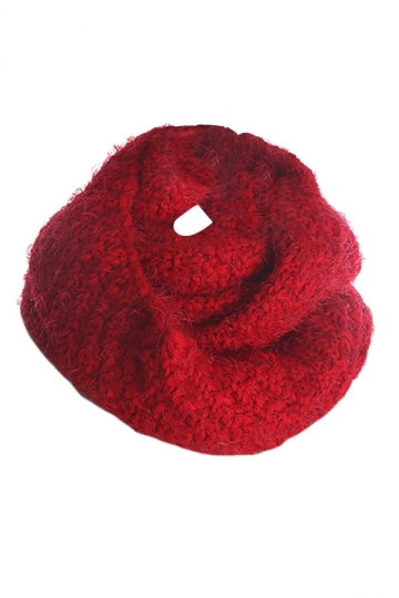 Womens Pretty Mohair Warm Wrap Collar Scarf Red