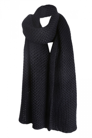 Womens Pretty Winter Warm Knitted Scarf Black
