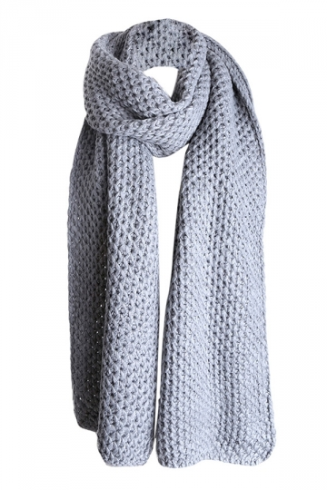 Womens Pretty Winter Warm Knitted Scarf Gray