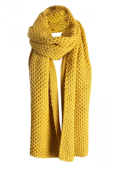Womens Pretty Winter Warm Knitted Scarf Yellow