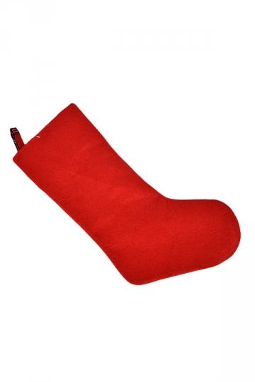 Womens Pretty Plaid Christmas Stocking Accessory Red
