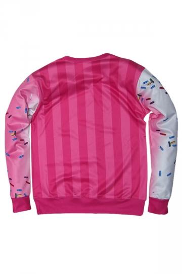 Womens Character Marilyn Monroe 3D Print Pullover Sweatshirt Pink