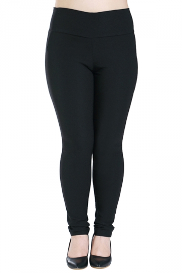 Womens Plus Size High Waisted Elastic Leggings Black