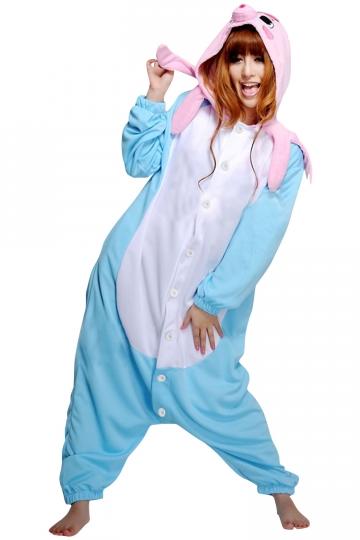 Womens Hooded Onesies Octopus Pajamas Animal Costume Blue