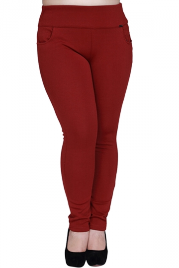 Womens High Elastic Thick Gold Velvet Plus Size Leggings Ruby