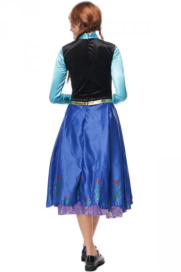 Womens Frozen Anna Elsa Halloween Dress Costume Blue ...