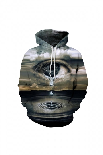 The Last Drop Of Water On Earth Digital Printed Hoodie Brown