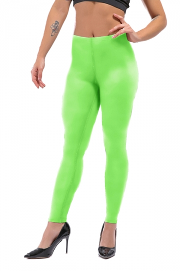 Womens Sexy Skinny Ankle Length Plain High Waisted Leggings Green