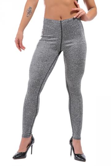 Womens Sexy Skinny Ankle Length Plain High Waisted Leggings Gray