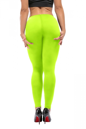 Womens Sexy Skinny Ankle Length High Waisted Leggings Light Green