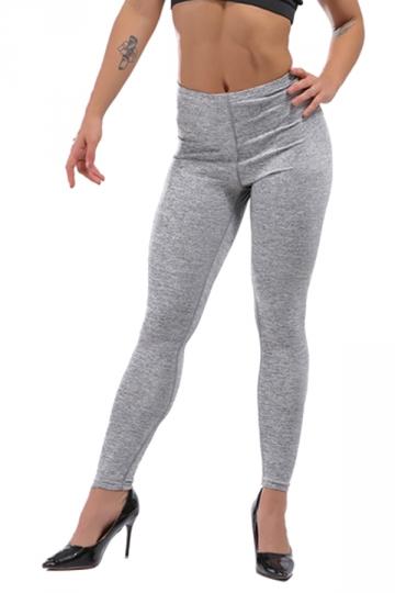 Womens Sexy Skinny Ankle Length Plain High Waisted Leggings Light Gray