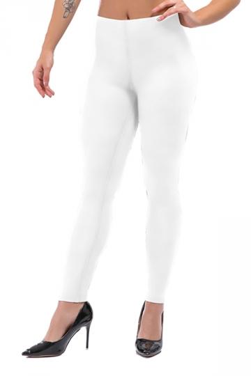 Womens Sexy Skinny Ankle Length Plain High Waisted Leggings White