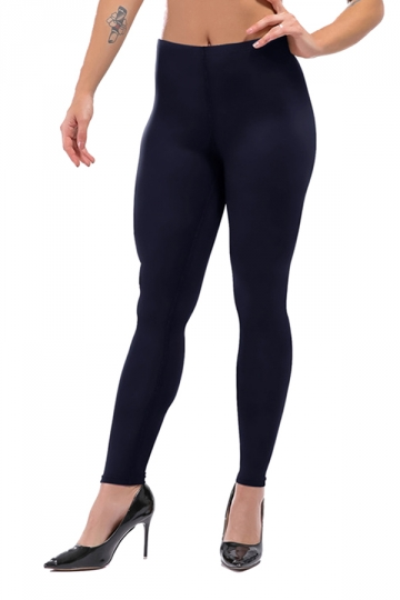 Womens Sexy Skinny Ankle Length Plain High Waisted Leggings Navy Blue