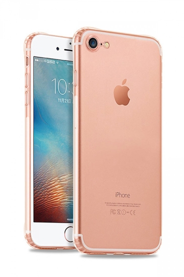 Rose Gold Ultra Thin Silicone Durable Transparent Case for iPhone