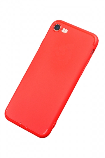 Red Ultra Thin Frosted Durable Soft Case for iPhone