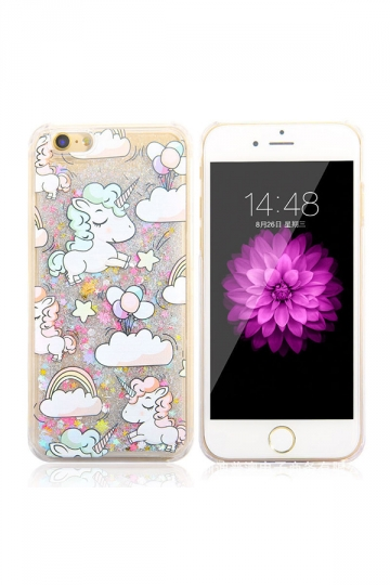 Cute Durable Soft Silicone Unicorn Printed Transparent Case for iPhone