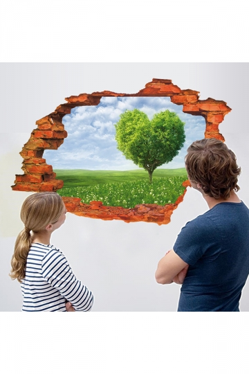 Removable Kids Bedroom Living Room Nursery 3D Scenery Wall Decal Green
