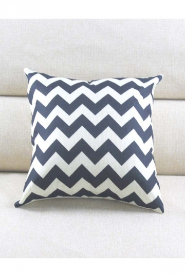 Cosy Wave Printed Decorative Throw Pillow Cover Black 18x18in