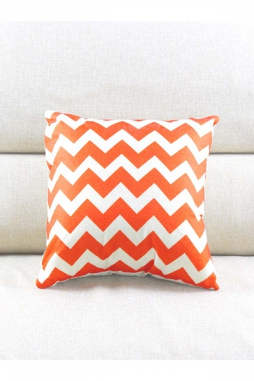 Cosy Wave Printed Decorative Throw Pillow Cover Orange 18x18in