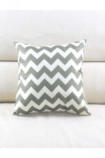 Cosy Wave Printed Decorative Throw Pillow Cover Gray 18x18in