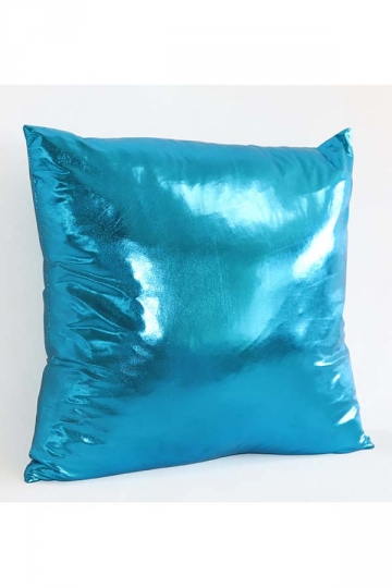 Stylish Homey Liquid Plain Throw Pillow Cover Blue 18x18in