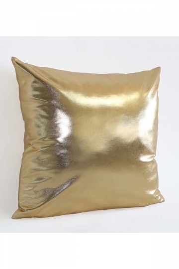 Stylish Homey Liquid Plain Throw Pillow Cover Gold 18x18in