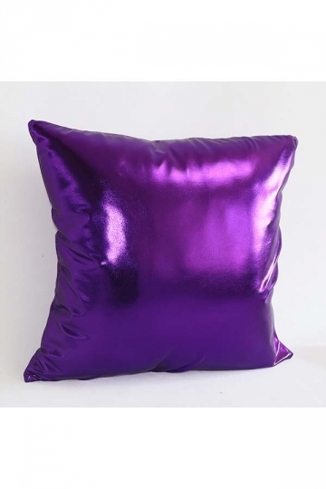 Stylish Homey Liquid Plain Throw Pillow Cover Purple 18x18in