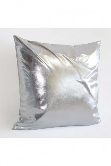 Stylish Homey Liquid Plain Throw Pillow Cover Silver 18x18in