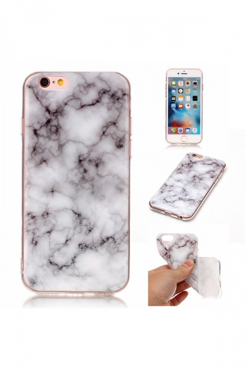 Gray Ultra-Thin Anti-Scratch TPU Marble Pattern Soft Case for iPhone