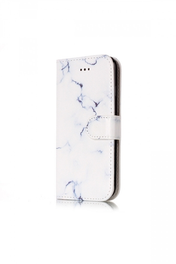 White Magnetic Stand Function Cash Compartment Wallet Case for iPhone