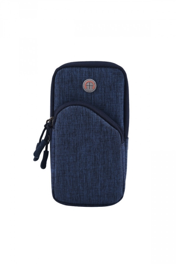Blue Dust Proof Sports Armband Running Armbag Wallet Case for iPhone