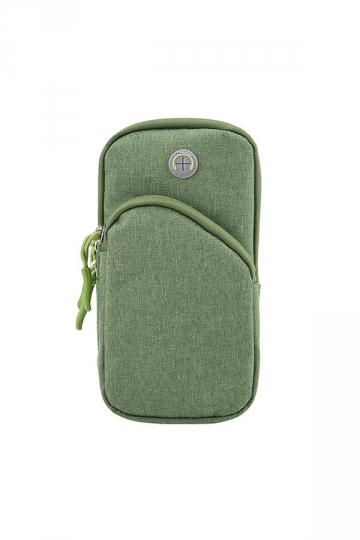 Green Sports Armband Multifunctional Pockets Wallet Case for iPhone