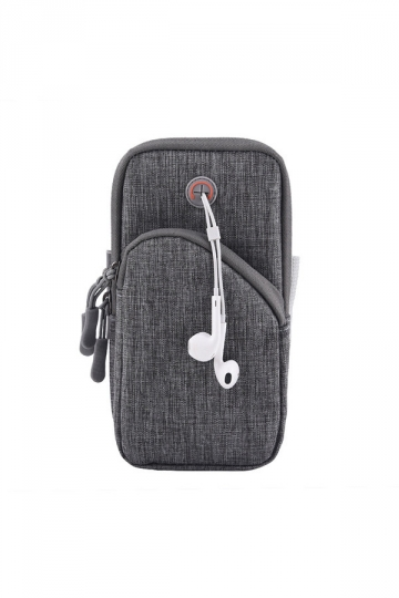 Gray Dust Proof Sports Armband Fitness Workout Wallet Case for iPhone