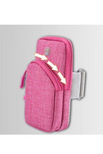 Rose Red Sweatproof Running Armbag Workout Wallet Case for iPhone