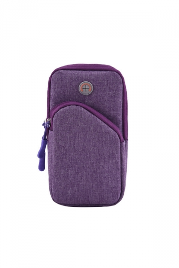 Purple Sweatproof Sports Armband Running Armbag Wallet Case for iPhone