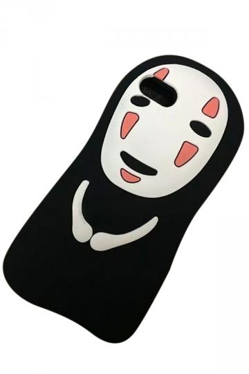 Black Cartoon Spirited Away Kaonashi Soft Silicone Case for iPhone
