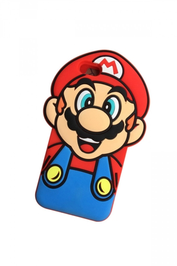 Red Protective Soft Silicone Cool Cartoon Super Mario Case for iPhone
